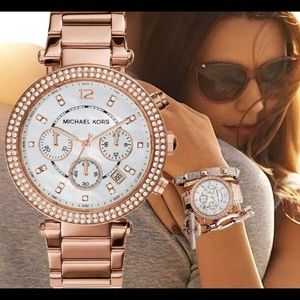 NWT Michael Kors Rose Gold Watch